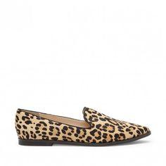 Bela high vamp loafer - Leopard