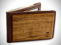LEATHER & WOOD BIFOLD WALLETS BY SLIM TIMBER