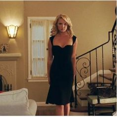 Katherine Heigl Black Sexy Dress in Movie The Ugly Truth