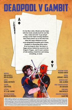 Preview: Deadpool vs. Gambit #5, Story: Ben Acker & Ben Blacker Art: Danillo Beyruth Cover: Kevin Wada Publisher: Marvel Publication Date: September 21st, 2016 Price: $3.99 ...,  #All-Comic #All-ComicPreviews #Comics #DanilloBeyruth #Deadpoolvs.Gambit #KevinWada #Marvel #previews