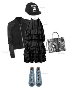 """""""Nobody Better"""" by thatgemgirl ❤ liked on Polyvore featuring Rick Owens, Moschino, Balmain, Barbara Bui and Yves Saint Laurent"""