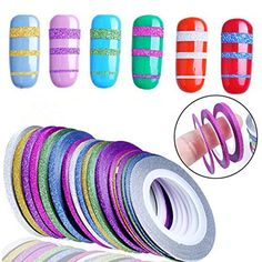 10 Rolls Glitter Scrub Nail Art Striping Tape Line Sticke... https://www.amazon.com/dp/B06VSRGW98/ref=cm_sw_r_pi_dp_x_N479yb21DK3MQ