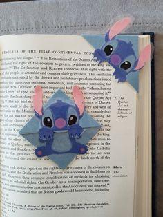 Stitch (Lilo and stitch) or Baymax (Big Hero Laminated Corner Bookmark Creative Bookmarks, Cute Bookmarks, Bookmark Craft, Corner Bookmarks, Origami Bookmark, Paper Crafts Origami, Origami Easy, Origami Boxes, Dollar Origami