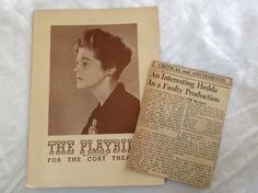 1948 Playbill Eva Le Gallienne Cort Theater NYC 1940s Ads News Article Lupus | eBay