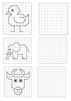 Educational Activities For Toddlers, Preschool Activities, Kids Learning, Symmetry Activities, Visual Perception Activities, Graph Paper Drawings, Graph Paper Art, Coding For Kids, Busy Book