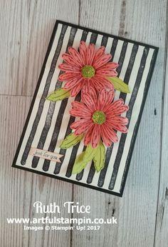 SU Daisy Delight, Flirty Flamingo card stock, Berry Burst ink, Lemon Lime Twist,  Old Olive