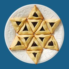 Chocolate-Filled Hamantaschen in a Star of David shape from Jewish Woman Magazine http://www.jwi.org/page.aspx?pid=2711#sthash.0UHwzAtX.dpbs