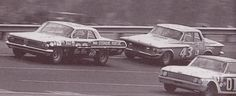 Fireball Roberts and Richard Petty Nascar Racing, Auto Racing, Richard Petty, Old Race Cars, Vintage Race Car, Ol Days, Good Ol, Back In The Day, Old Pictures
