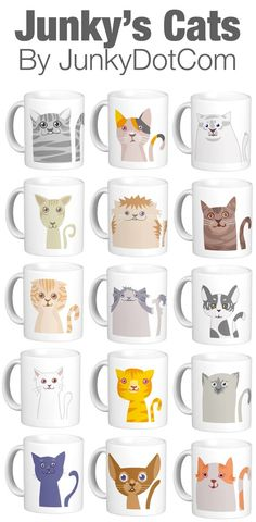 Junky's Cats Mugs at Zazzle #cats #cat #junkydotcom http://www.zazzle.com/junkydotcom*