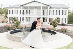 Bride and groom Portraits, Dayton Ohio wedding photographer, dip pose, fountain, just married, Dayton Ohio venue, Ohio photographer