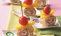 Leckere Salami-Spieße Rezept: Ein pikantes Gebäck mit Salami, Tomaten und Paprika als Snack - Eins von 7.000 leckeren, gelingsicheren Rezepten von Dr. Oetker!