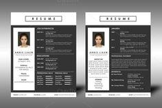 Clean Resume by Mangga Design on Resume Action Words, Resume Words Skills, Resume Writing Tips, Resume Tips, Resume Cv, College Resume Template, One Page Resume Template, Simple Resume Template, Creative Resume Templates