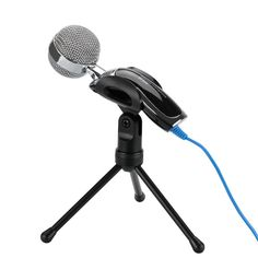 USB Desktop Condenser Microphone - USB Output Noise Cancellation 6 Inch Tripod With Holder Clip Lightweight