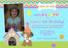 Puppy Birthday Invitation   DIY Print Your Own  by jcbabycakes, $10.00