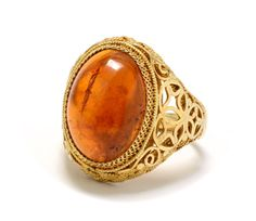 Chinese Export Amber Vermeil Filigree Ring by RubyInTheDustVintage #rubyinthedust #rubyinthedustvintage #vintagejewelry #asiansilver  #estatejewelry  #vintagejewelry #artdeco #weddingjewelry #bridaljewelry #somethingold #patina #antiquejewelry #estatejewelry #vermeil #filigree #amber #chineseexport