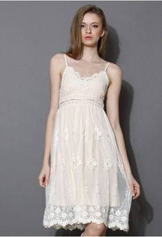 Sunny Embroidered Lace Slip Dress50