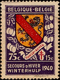 Belgium.  Coats of Arms.  Namur.  Scott B268 SP111, Issued