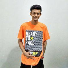 """T-shirt OP27 Factory Racing """"Ready To Race"""" TOP27-010 Orange  @Regrann from @uciel_022 - #regrann  087845622777 (WA, SMS, & Telp) / D17560D1 (BBM) / op27factory (LINE)"""