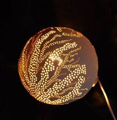 Handmade ceramic lamp.
