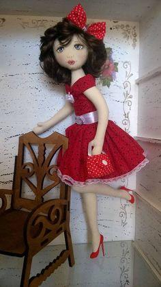 pin-up. Bonecas de pano. Soraia Flores.