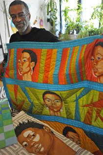 Lest you think this quilting thing is reserved only for women, turn your attention to the work of quilter/artist/weaver Jim Smoote.
