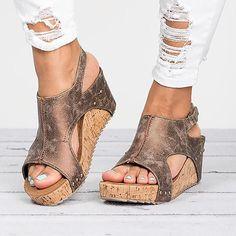 6b1a8b75e94d Cut Out Open Toe Retro Platform Women Wedge Sandals  shopaholic  outfits   fashionlover