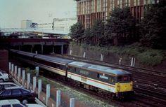 An Innercity Train outside East Croydon Train Station Croydon Surrey England in July 1992