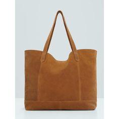 Suede Tote Bag Tan