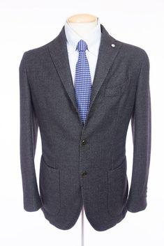 LBM 1911 Men Tailored Limited Edition Sport Coat 48 38 M Gray Blazer Lubiam 2881 #LBM1911 #ThreeButton