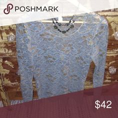 Turquoise & Gold lace top Wear this fun piece under an additional top to add texture! This top is a junior size and runs small...best for size small in Women's. Junk Gypsy Tops Camisoles