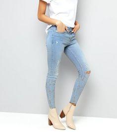 Light Blue Glitter Print Skinny Jenna Jeans