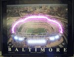 "Baltimore Football StadiumLED-Neon PosterFeatureses a classic arialphotograph of the stadium that is accented with L.E.D. lights to makeit stand out. The poster comes ready to hang and plugs into regularelectrical outlets.Features:Ready to hang and plug into regular outletsFull color posterFramed in 1"" glossy black frameLit with neon lights and L.E.D. light combinationExclusive one-year manufacturer warrantyDimensions: 22"" H x 28"" W"