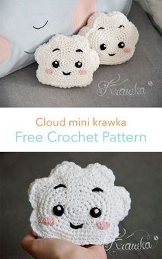 Crochet toys 732679433107063946 - Cloud Mini Krawka Free Crochet Pattern Source by audreybolles Kawaii Crochet, Bag Crochet, Crochet Pillow, Crochet Gifts, Cute Crochet, Crochet Dolls, Crochet Top, Crochet Puff Flower, Crochet Flower Patterns