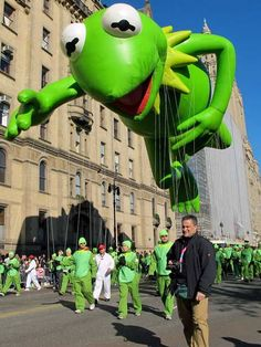 Kermit at the Macy's Thanksgiving Day Parade. Photo by DrivingtheNortheast