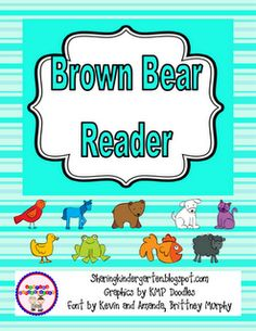 Classroom Freebies Too: Brown Bear Freebie. Cute Brown Bear reader, could work for Preschool to Kindergarten students. Language Activities, Reading Activities, Literacy Activities, Teaching Reading, Literacy Centres, Homeschooling Resources, Literacy Stations, Guided Reading, Teaching Tools