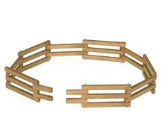 Wooden Toy Folding Fence 68 inches long, this Amish wooden toy is perfect for setting up a pretend farm!