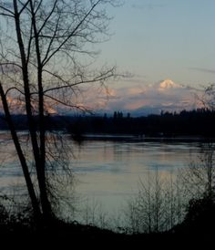 Mount Baker from Fort Langley, BC