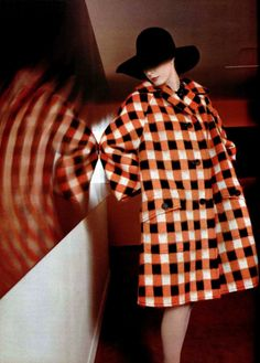 Christian Dior check coat 1960s