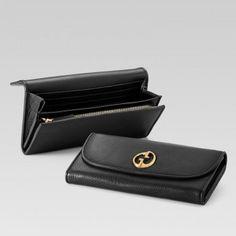 Gucci 245739 A7m0t 1000 Continental Geldb?rse mit Doppel-G-Detail Gucci Damen Portemonnaie