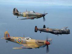 The Battle of Britain Memorial Flight's Lancaster, Spitire and Hurricane