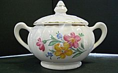 W S George Bolero Line Sugar Bowl With Lid