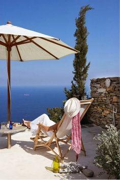 Rnjoying the view ~ deep blue sea.