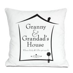 Grandparents House Personalised Cushion - a gorgeous gift idea from the Grandchildren