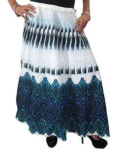 Mogul Womens Bohemian Skirt Printed Cotton White Blue Fla... https://www.amazon.com/dp/B071CG4G9Y/ref=cm_sw_r_pi_dp_x_RCz8yb2Q7EA9Y