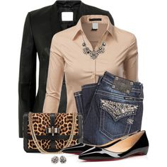 A fashion look from March 2015 featuring button up shirts, leather jacket and Miss Me. Browse and shop related looks.