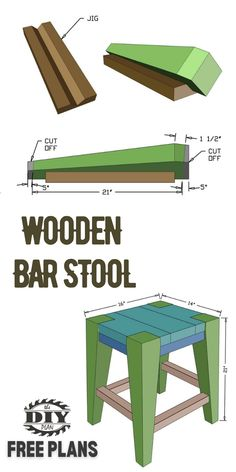 DIY Wooden Bar Stool. Visit our website for instructions on how to make this simple stool for your dining/kitchen area. #stool #diystool #diyprojects #diyideas #diyinspiration #diytutorial Diy Furniture Plans, Diy Furniture Projects, Diy Home Decor Projects, Outdoor Projects, Interior Blogs, Interior Design, Wooden Bar Stools, Let's Have Fun, Muslim Women