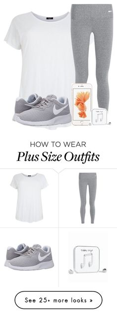 """I would LOVE to have this outfit♡♥♡"" by hot-chocolate-icons on Polyvore featuring Bodyism, NIKE, Happy Plugs, women's clothing, women, female, woman, misses and juniors"