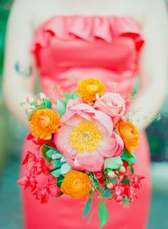 Vibrant Coral Wedding: Blaine and Mike // With Stephanie Hunter Photography and floral design by Visual Lyrics Floral Art