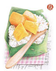 Thai mango dessert