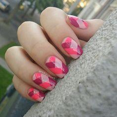 Braided nails. #nailart